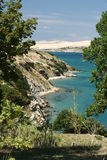 Island Pag. This photo introduces island Pag ,mountains,and mediterranean sea.(Croatia Europa Stock Images