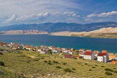 Island of Pag bay seascapes Royalty Free Stock Image