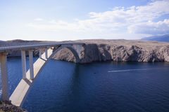 Island Pag Bridge stock images