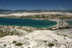 Island Pag-Croatia. This photo introduces island Pag ,mountains, stones,and mediterranean sea.(Croatia Europa Stock Photography
