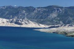 Island Pag-Croatia. And mediterranean sea Stock Photography