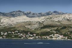 Island Pag-Croatia. This photo introduces island Pag ,mountains, stones,and mediterranean sea.(Croatia Europa Royalty Free Stock Photo