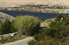 Island Pag-Croatia. This photo introduces island Pag ,mountains,and mediterranean sea.(Croatia Europa Stock Images