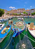 Island of Pag idyllic harbor Stock Image