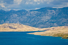 Island of Pag and Velebit mountain Stock Photography