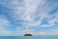 Island with pagoda at the Myeik Archipelago, Myanmar Stock Images