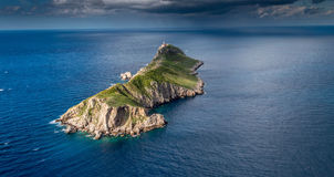 Island Palagruza. Island Palgruza from air on the cloudy day Royalty Free Stock Image