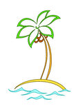 Island with a palm Stock Image