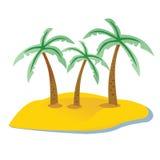 Island palm. Island, pirate island, palm, rich stock illustration