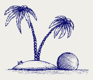 Island palm Stock Photography