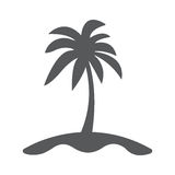 Island and Palm icon Flat. Palms and island icon flat. Illustration isolated vector sign symbol Stock Photography