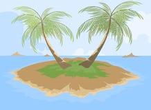 Island with palm tree Royalty Free Stock Photo