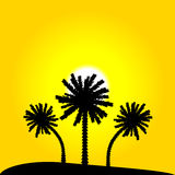 Island with palm trees. Illustration Stock Images