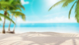 Island with palms, holyday. Isand with white sand and palms Royalty Free Stock Photography