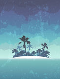 Island with palms Royalty Free Stock Photos