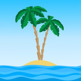 Island with palms Royalty Free Stock Photography