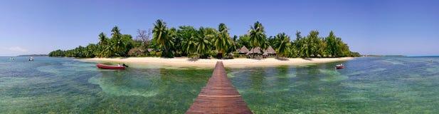 Island panorama Royalty Free Stock Photos