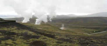 Island panorama arkivfoto