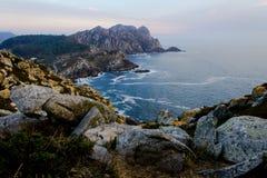 Island Panorama at Sunset royalty free stock photography