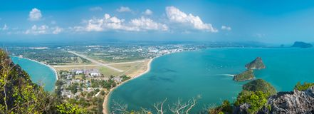 Island View of Ao Manao bay in Prachuap Khiri Khan Stock Photo