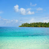 Island paradise. The beauty island in ocean royalty free stock photo