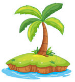 Island paradise. Illustration of a tropcial island on white Royalty Free Stock Photography