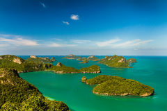 Island Paradise. Several beautiful islands photographed from the perfect view point Stock Photos