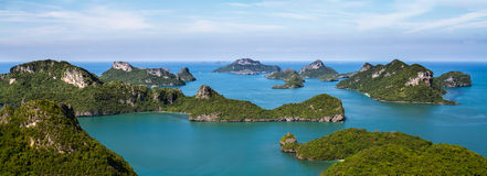 Island Paradise. National Ang Thong marine park (Thailand) photographed from the perfect point of view Royalty Free Stock Image