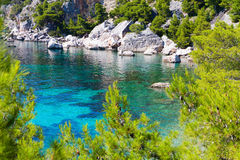 Island paradise in Adriatic Sea of Croatia Stock Images