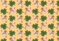 Island paradise banner pattern Stock Photos