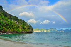 Island Paradise. Rainbow over Island Paradise in the South China Sea Royalty Free Stock Images