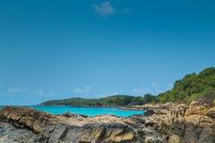 Island paradise. Rocks, sea and sky are beautiful in Thailand Stock Image