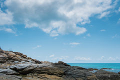 Island paradise. Rocks, sea and sky are beautiful in Thailand Royalty Free Stock Photo