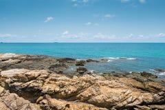 Island paradise. Rocks, sea and sky are beautiful in Thailand Royalty Free Stock Photos