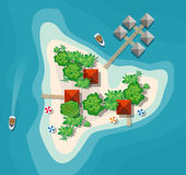 Island paradise view Stock Images