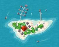 Island paradise view Royalty Free Stock Image