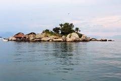 Island in Paraty Bay Rio de Janeiro Brazil Stock Image