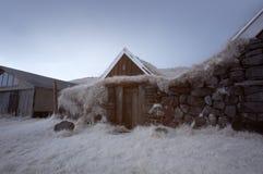 Island parkerar det infraröda landet Arkivfoton