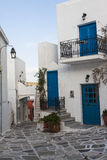 Island of Paros with the village of Naoussa Stock Photography