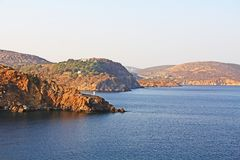 The Island of Patmos, Greece with Copy Space royalty free stock photo
