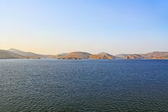 The Island of Patmos, Greece with Copy Space stock photo