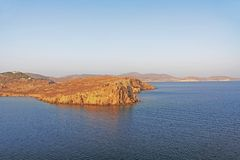 The Island of Patmos, Greece with Copy Space royalty free stock images