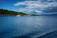 The island of Paxos, Greece. Ð•arly summer on the island of Paxos, Ionian Sea, Greece royalty free stock photo