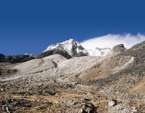 Island Peak Base Camp - Nepal. A view from the Island Peak Base Camp Royalty Free Stock Images