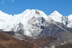 Island peak (Imja Tse) - popular climbing mountain in Nepal Royalty Free Stock Photos