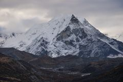 Island peak in a morning, Everest region, Nepal royalty free stock image