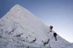 Island Peak Summit - Nepal Stock Image