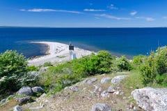 Island peninsula on Swedish coast Stock Photography