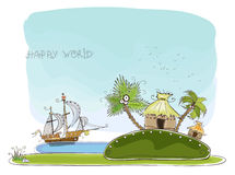 Island for perfect honeymoon Happy world collection Stock Photos
