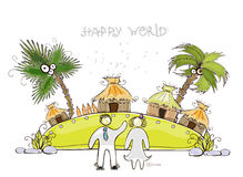 Island for perfect honeymoon Happy world collection Royalty Free Stock Photo